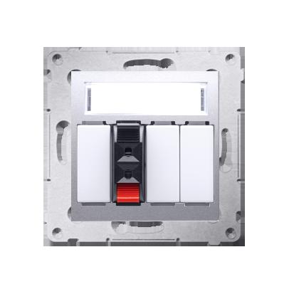 Lautsprecher Anschlussdose Modul-Einsätze 1fach silber Kontakt Simon 54 Premium DGL31.01/43