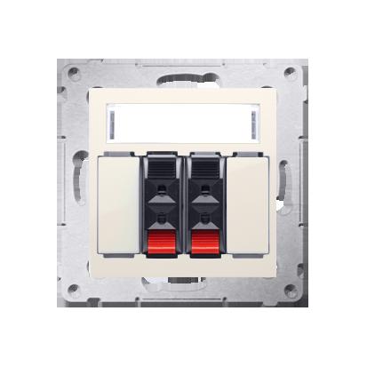 Lautsprecher Anschlussdose Modul-Einsätze 2fach cremeweiß matt Kontakt Simon 54 Premium DGL32.01/41