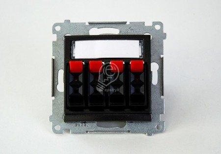 Lautsprecher Anschlussdose Modul-Einsätze 4fach Anthrazit matt Kontakt Simon 54 Premium DGL34.01/48