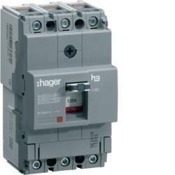 Leistungschalter h3 x160 TM ADJ 3P3D 63A 40kA CTC Hager HNA063H