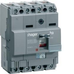 Leistungschalter h3 x160 TM ADJ 4P4D N0-100% 100A 25kA CTC Hager HHA1H