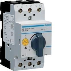 Motorschutzschalter einstellbar von 0,16 bis 0,4A 230/400V Hager MM503N