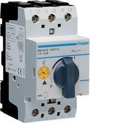 Motorschutzschalter einstellbar von 1,6 bis 2,5A 230/400V Hager MM507N