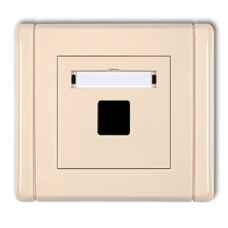 Multimedia-Steckdose ohne Modul (Keystone-Standard) beige IP20 (Serie/Kategorie: FLEXI) 1FGM-1P