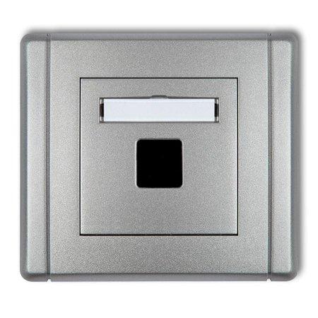 Multimedia-Steckdose ohne Modul (Keystone-Standard) silber 7FGM-1P