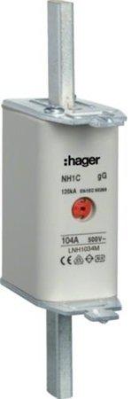 NH-Sicherungseinsatz NH1C gG 500V 40A Kombi-Melder Grifflasche spannungsführend Hager LNH1040M