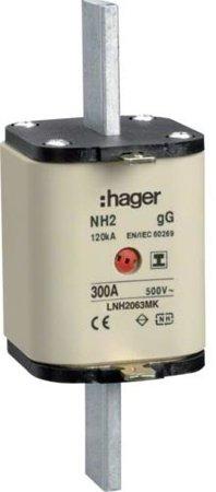 NH-Sicherungseinsatz NH2 gG 500V 300A Kombi- Melder mit isolierter Grifflasche Hager LNH2300MK