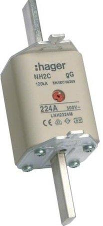 NH-Sicherungseinsatz NH2C gG 500V 224A Kombi- Melder Grifflasche spannungsführend Hager LNH2224M
