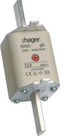 NH-Sicherungseinsatz NH2c gG 500V 35A Kombi- Melder Grifflasche spannungsführend Hager LNH2035MK