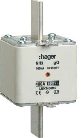 NH-Sicherungseinsatz  NH3 gG 690V 400A Kombimelder Grifflasche spannungsführend Hager LNH3400M6