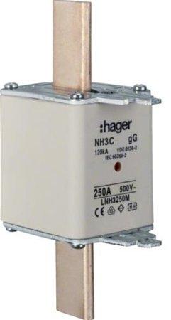 NH-Sicherungseinsatz NH3C gG 500V 250A Kombi- Melder Grifflasche spannungsführend Hager LNH3250M