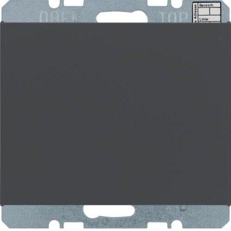 Objekt-Temperaturregler mit Tasterschnittstelle K.1 anthrazit matt Hager 75441275