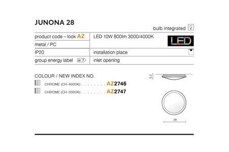 Plafond JUNONA 28 Modern Metall, PC Chrom Azzardo AZ2746