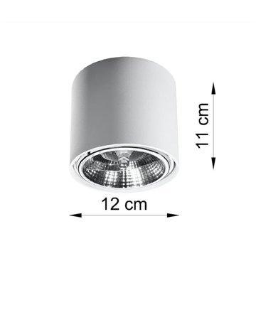 Plafond TIUBE weiß GU10 SL.0695 Sollux