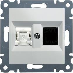 RJ11-Buchse/12 + RJ45, weiß WL2210 Lumina Hager