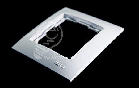 Rahmen 1fach polarweiß glänzend IP20/IP44 Simon 54 Premium Kontakt Simon DR1/11