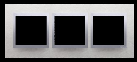 Rahmen 3fach  Inox matt Metall Kontakt Simon 54 Nature DRN3/77