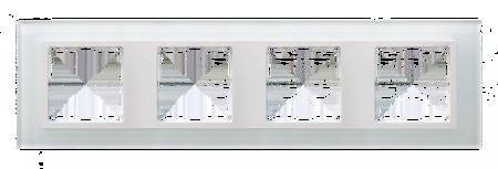 Rahmen 4fach Glas weiß/ Zwischenrahmen weiß Kontakt Simon 82 82647-30
