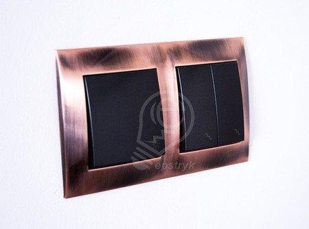 Rahmen 4fach Kupfer IP20/IP44 Simon 54 Premium Kontakt Simon DR4/36