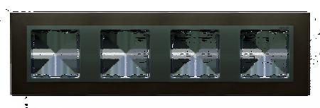 Rahmen 4fach Stahl graphit/ Zwischenrahmen graphit Kontakt Simon 82 82847-38
