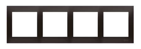 Rahmen 4fach anthrazit matt IP20/IP44 Simon 54 Premium Kontakt Simon DR4/48