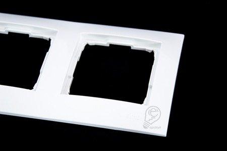 Rahmen 4fach weiß glänzend IP20/IP44 Simon 54 Premium Kontakt Simon DR4/11
