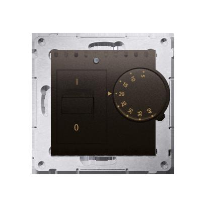 Raumtemperatur- Regler mit Innensensor (Modul) braun matt Kontakt Simon 54 Premium DRT10W.02/46