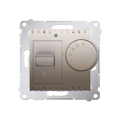Raumtemperatur- Regler mit Innensensor (Modul) gold matt Simon 54 Premium Kontakt Simon DRT10W.02/44