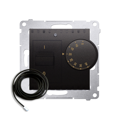 Raumtemperatur- Regler mit Innensensor (Modul) inkl. Außensensor anthrazit DRT10Z.02/48