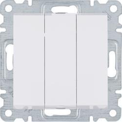 Schalter, 3-Tasten, 3-polig, weiss, WL0070 Lumina Hager