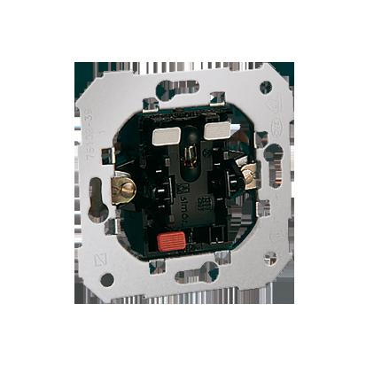 Schalter- Einsatz 1-polig mit roter Linse 10AX Kontakt Simon 82 75104-39