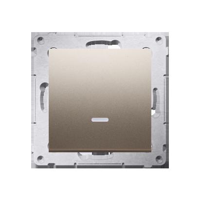 Schalter (Modul) 1polig mit LED Gold Kontakt Simon 54 Premium DW1L.01/44