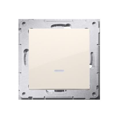 Schalter (Modul) 1polig mit LED cremeweiß Kontakt Simon 54 Premium DW1L.01/41