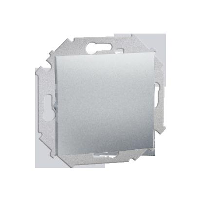 Schalter (Modul) einpolig mit Schraubklemmen Aluminium metallisch