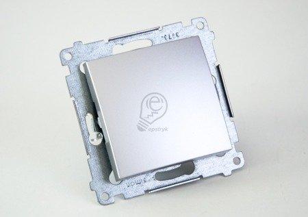 Schalter (Modul) einpolig mit Schraubklemmen silber Simon 54 Premium Kontakt Simon DW1A.01/43