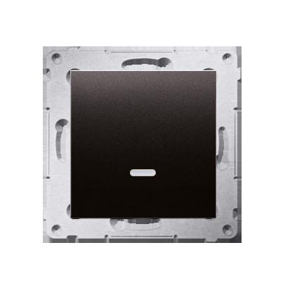 Schalter (Modul) mit LED (blaue Linse) Anthrazit matt Kontakt Simon 54 Premium DW1AL.01/48