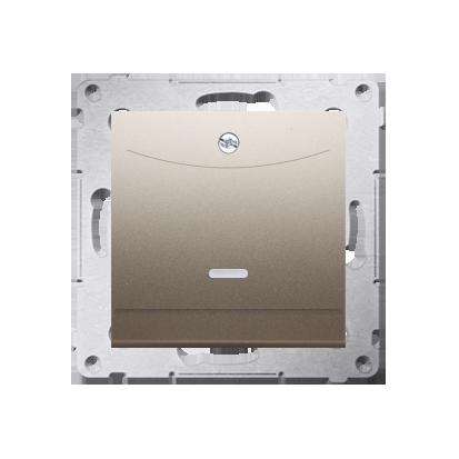 Schalter für Hotelkarte 2polig mit LED Nennstrom: 10A gold Kontakt Simon 54 Premium DWH2.01/44