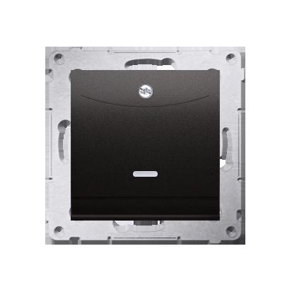 Schalter für Hotelkarte mit LED Nennstrom: 10A Anthrazit Kontakt Simon 54 Premium DWH1.01/48