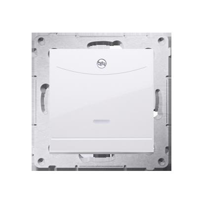 Schalter für Hotelkarte mit LED Nennstrom: 10A weiß Kontakt Simon 54 Premium DWH1.01/11