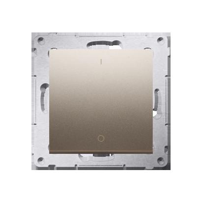 Schalter zweipolig mit Aufdruck und Gold matt Kontakt Simon 54 Premium DW2A.01/44