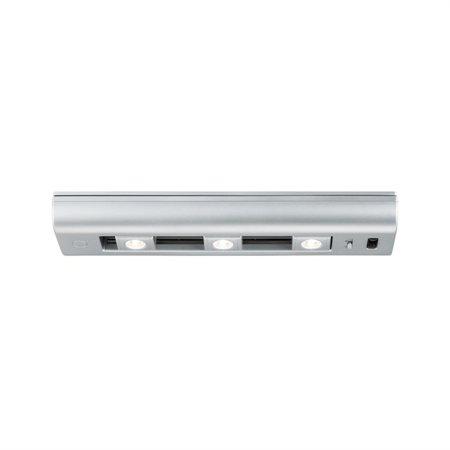Schrankleuchte Slide Bar 30cm LED 3000K Chrom matt 6x1.5V AA