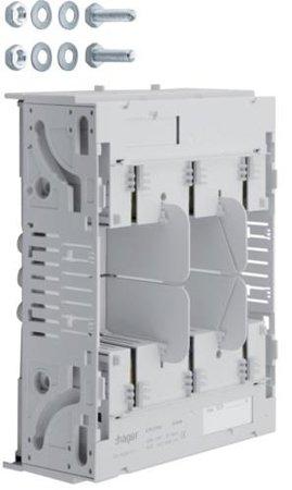 Sicherungsunterteil NH2 3x250A Sammelschiene 40mm Universalanschluss 10M Hager LT252U