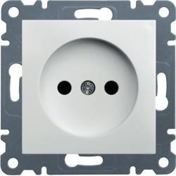 Steckdose ohne Erdung, 16A/250VAC, weiß WL1010 Lumina Hager