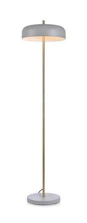 Stehlampe grau Messing CAEN 60W E27 Markslojd 107923