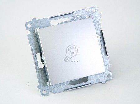 Taster 1fach (Modul) Silber matt Kontakt Simon 54 Premium DP1A.01/43