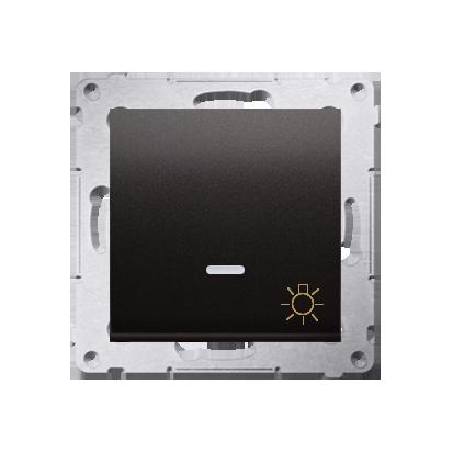 """Taster 1fach (Modul) mit Aufdruck """"Licht"""" und LED anthrazit matt Kontakt Simon 54 Premium DS1L.01/48"""