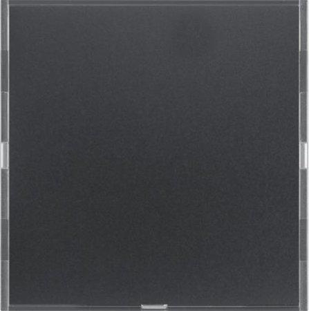 Tastsensor 1fach Komfort mit Beschriftungsfeld KNX S.1/B.x anthrazit/alu Hager 80161785