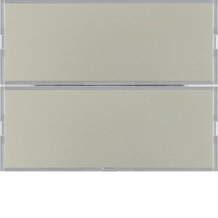 Tastsensor 2fach Komfort mit Beschriftungsfeld KNX K.5 edelstahl matt, lackiert Hager 80162773