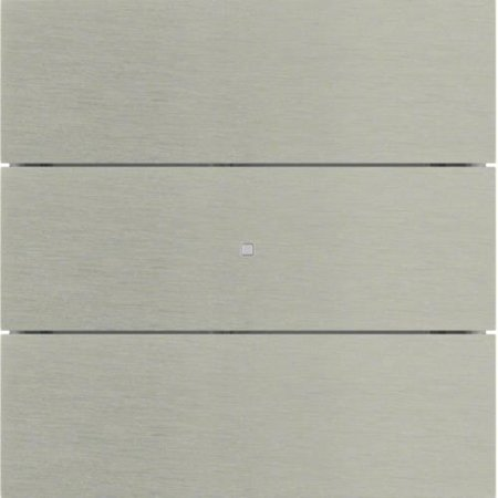 Tastsensor 3fach B.IQ Glas Edelstahl Rostfrei Hager 75163093