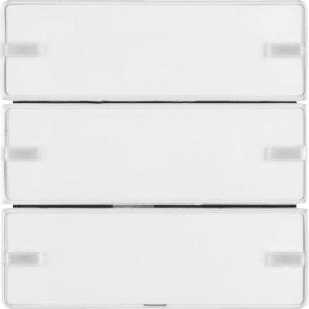 Tastsensor 3fach Komfort mit Beschriftungsfeld KNX Q.x polarweiß samt Hager 80143329